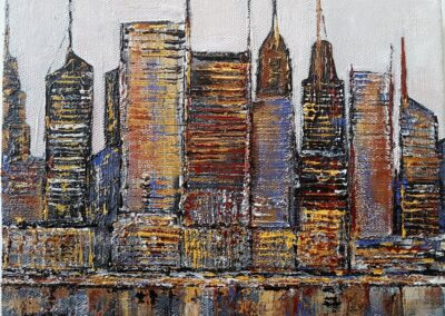 New York Skyline 1 by Marilyn Austin